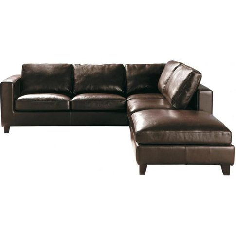 5-Seater Split Leather Corner Sofa Bed In Brown Kennedy
