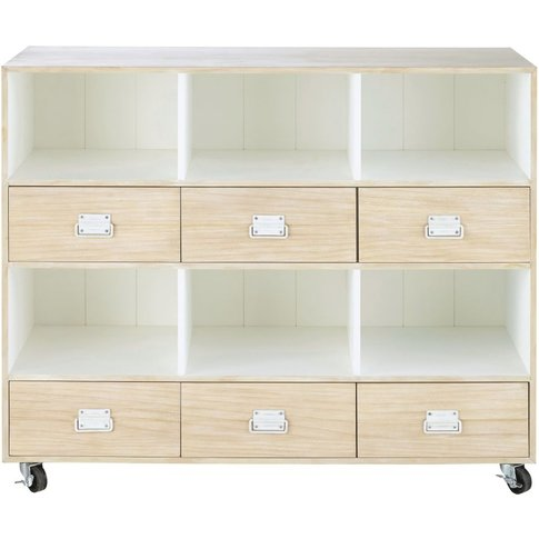 6-Drawer Storage Cabinet on Castors Marin