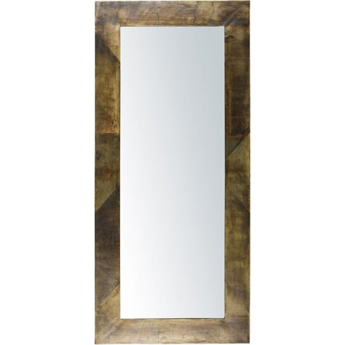 Aged-Effect Bronze-Coloured Metal Mirror 100x221