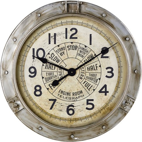 Aged Effect Metal Industrial Clock D85