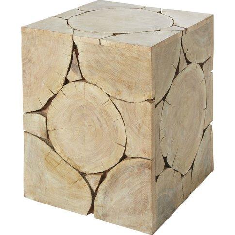 Albizia Wood Side Table