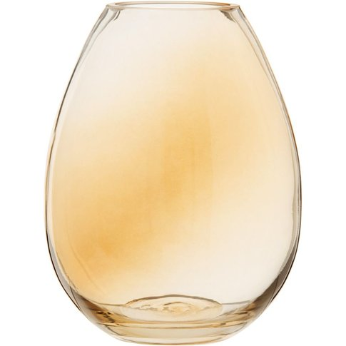 Amber Pear Glass Vase H18