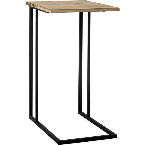 Andrew Metal Side Table In Black W 40cm