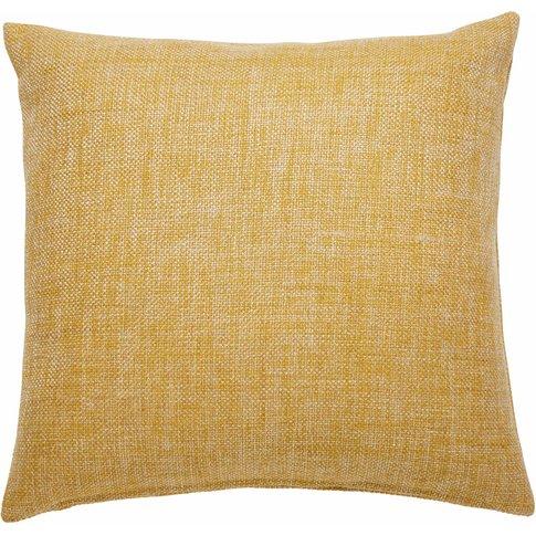 Andy Yellow Fabric Cushion 45 X 45 Cm