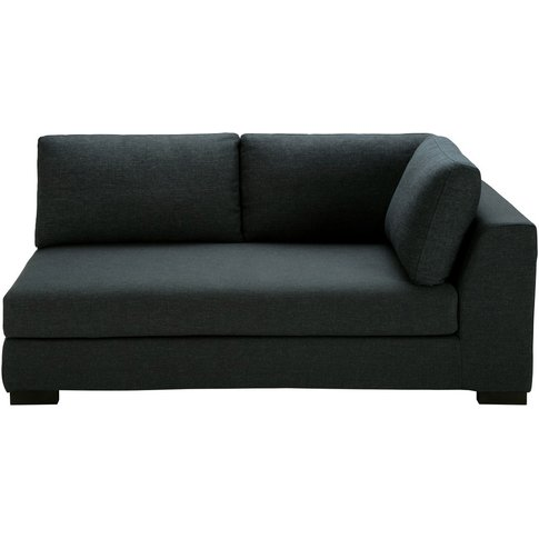 Anthracite Cotton Modular Sofa Bed With Right Armres...