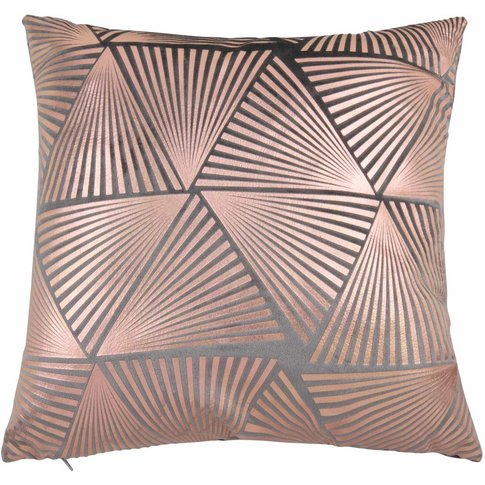 Anthracite Grey and Bronze Cushion Cover 40x40