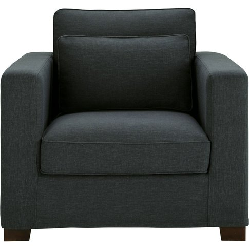 Anthracite Grey Armchair Milano
