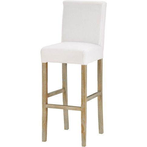 Bar stool to be covered, with white legs Boston