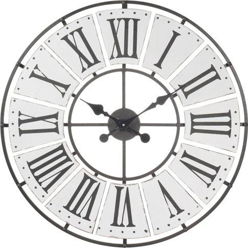 Beaucourt Metal Clock, D 70 Cm