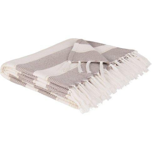 Beige and Ecru Cotton Blanket 180x240