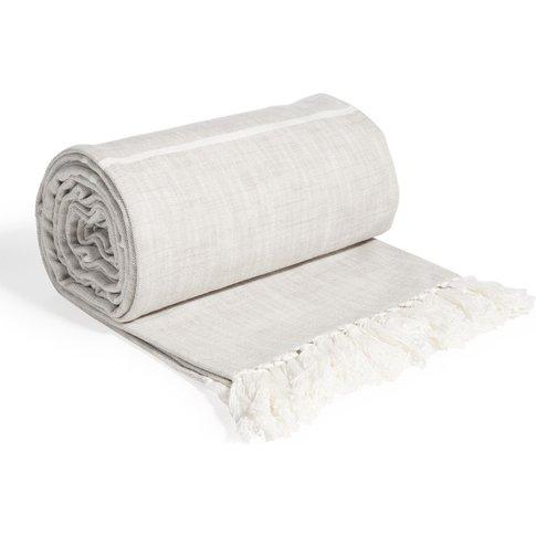 Beige Cotton Blanket 160x210