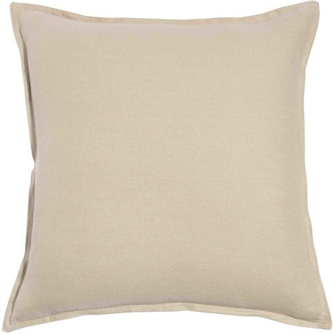 Beige Washed Linen Cushion 60x60