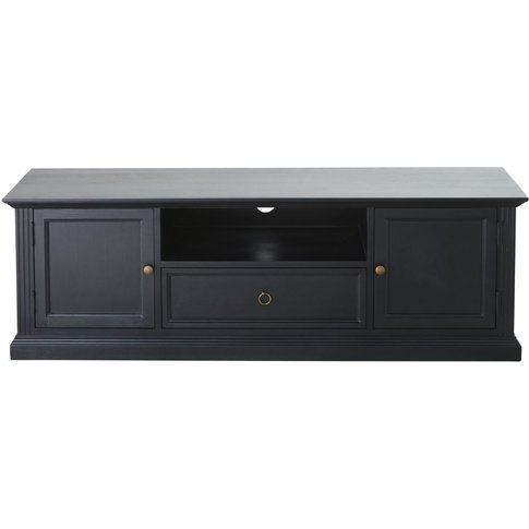 Black 2-Door TV Unit Cambronne