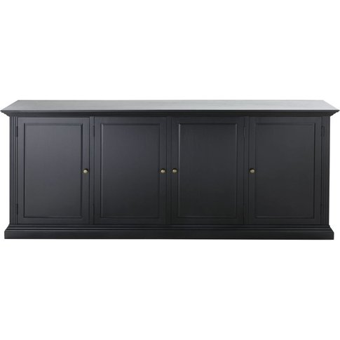 Black 4-Door Sideboard Cambronne