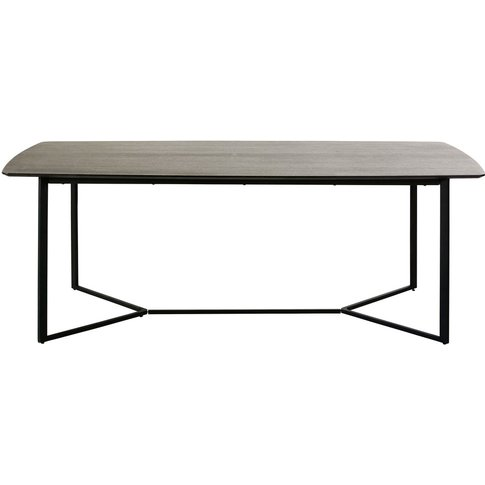 Black 6-8 Seater Dining Table W 210 Cm Opal