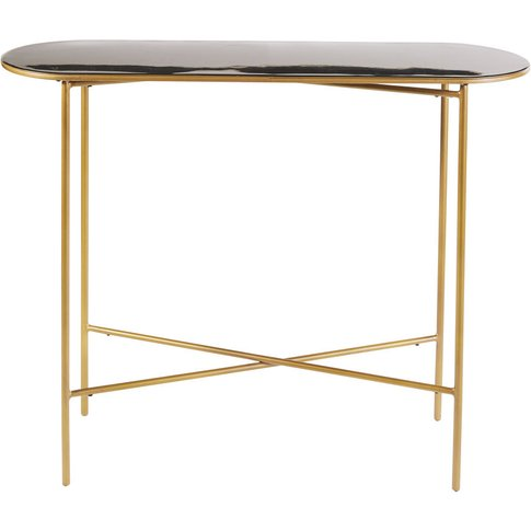 Black And Gold Metal Console Table Maddie