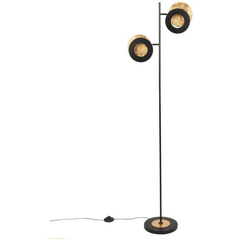 Black And Gold Metal Double Floor Lamp H143