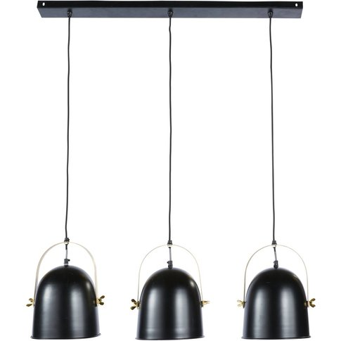 Black and Gold Metal Pendant with 3 Spotlights