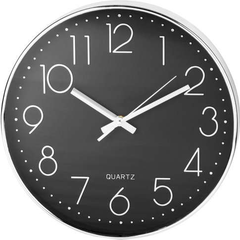Black And Silver Clock D31