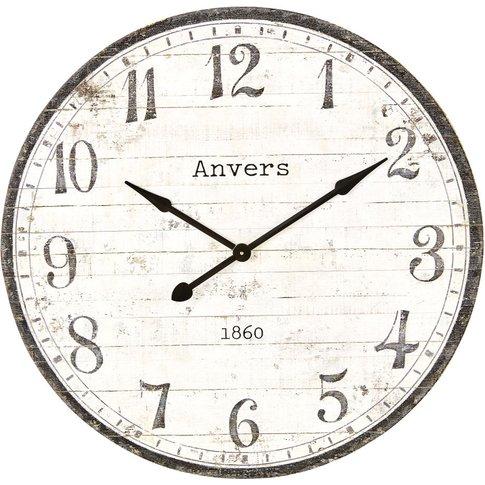 Black And White Pine Clock D92