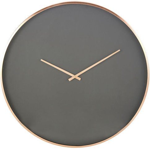 Black Clock With Copper Metal D76