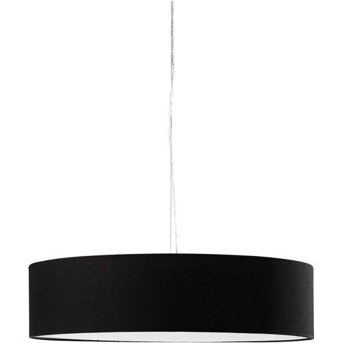 Black Cotton Pendant Lamp D60