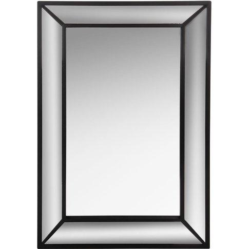 Black Double Frame Mirror 40x60