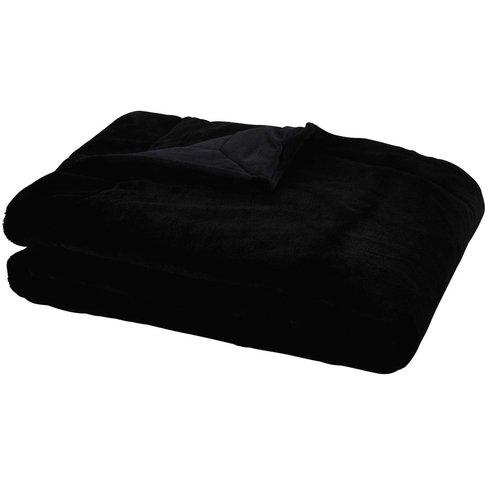 Black Faux Fur Blanket 150x180