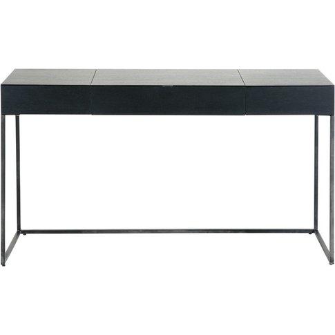 Black Metal 2-Drawer Desk Opal