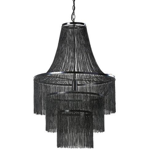 Black Metal Chain Ceiling Light