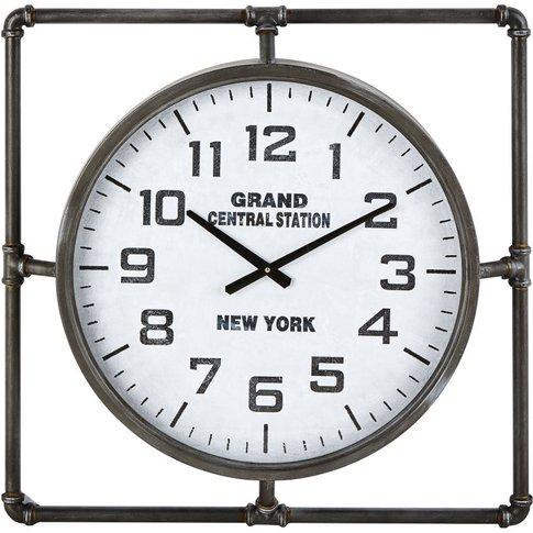 Black Metal Clock 64x64