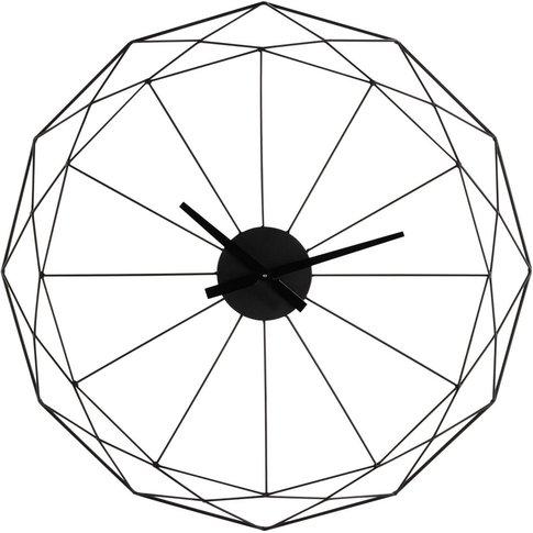 Black Metal Clock D80