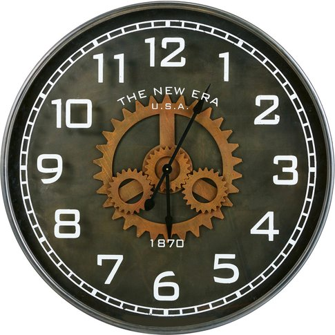 Black Metal Cog Clock D113