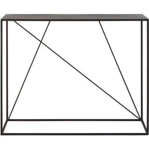 Black Metal Console Table Edwin