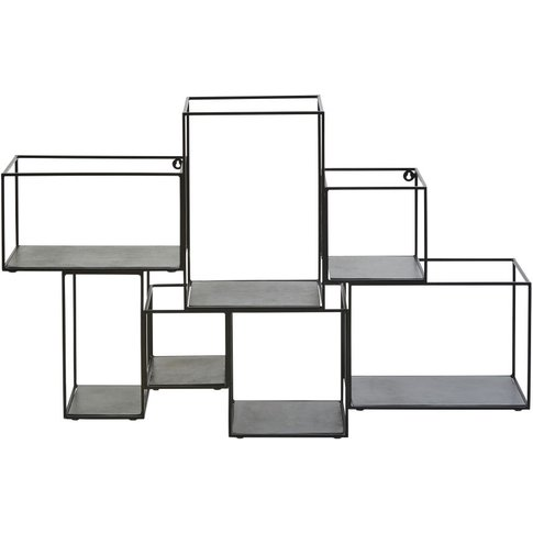Black Metal Cube Shelving Unit