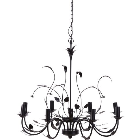 Black Metal Foliage Ceiling Light