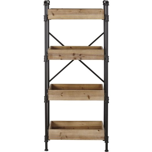 Black Metal Industrial Shelving Unit Wayne