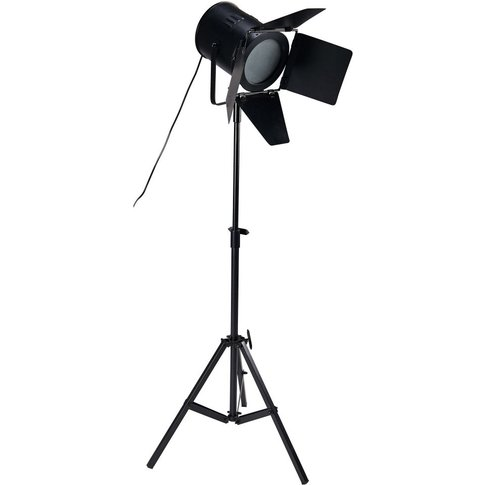 Black Metal Tripod Floor Lamp H180