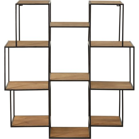 Black Metal Unstructured Shelving Unit