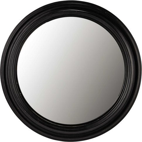 Black Paulownia Wood Convex Mirror D90
