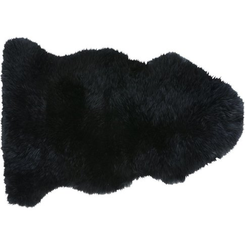 Black Sheepskin Rug 55x90