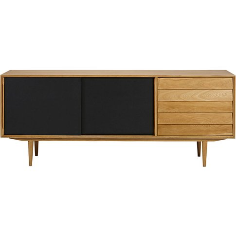 Black vintage 3-door sideboard Sheffield
