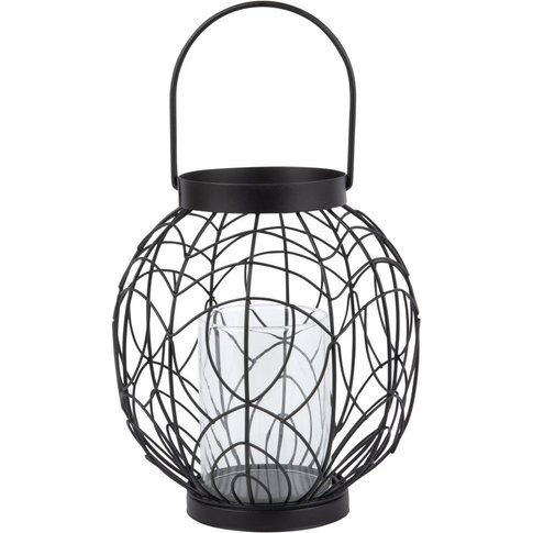 Black Wire Candle Holder H20