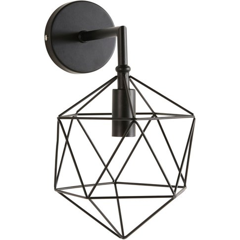 Black Wire Wall Lamp