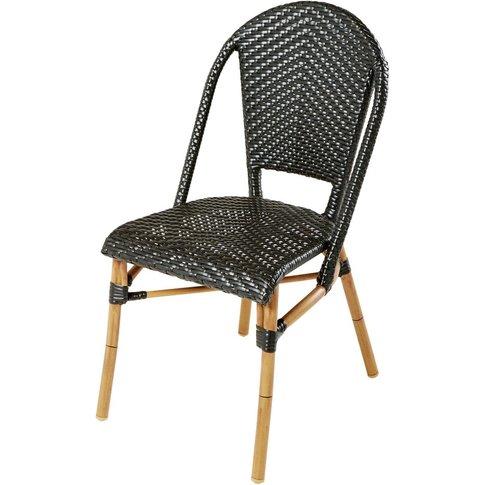 Black Woven Resin Professional Garden Chair H88 Kafe...