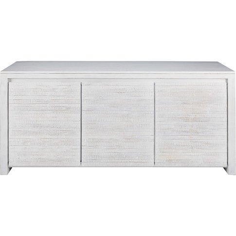 Bleached solid mango wood 3-door sideboard Java