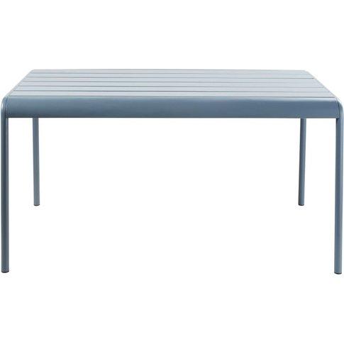 Blue Grey Metal 4-6 Seater Garden Table L140 Batigno...