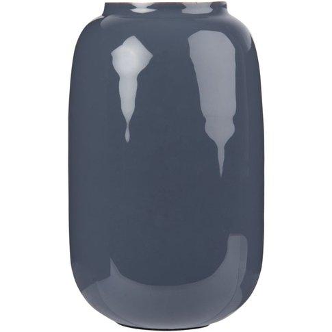 Blue Metal Vase H17