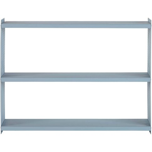 Blue Perforated Metal Shelving Unit
