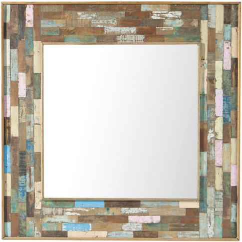 BOHÈME wooden mirror H 90cm